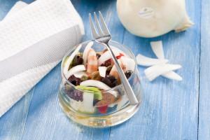 Receta de salpicón de marisco - Presentación del plato
